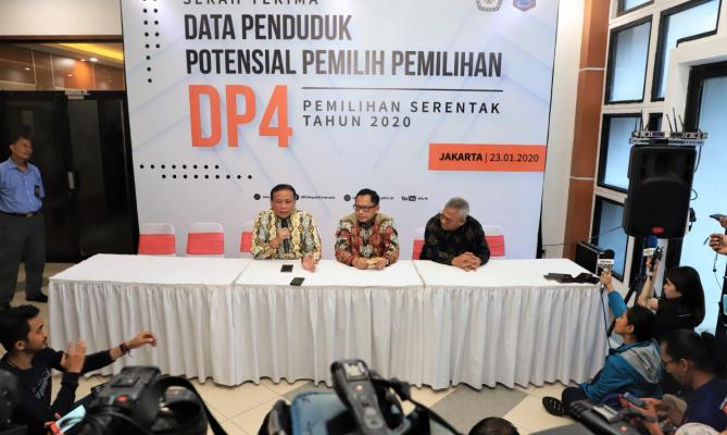 KPU Menerima DP4, Bawaslu Siap Mengawasi Pemutakhiran Daftar Pemilih Pilkada 2020